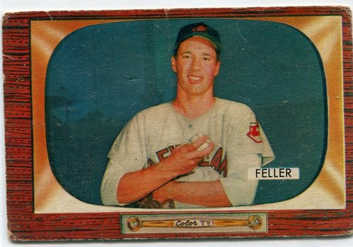 Photo of 1955 Bowman #134 Bob Feller -- Hall of Famer