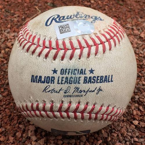 San Francisco Giants - Game-Used Baseball - Miguel Gomez double off Tony Watson on 7/26/17
