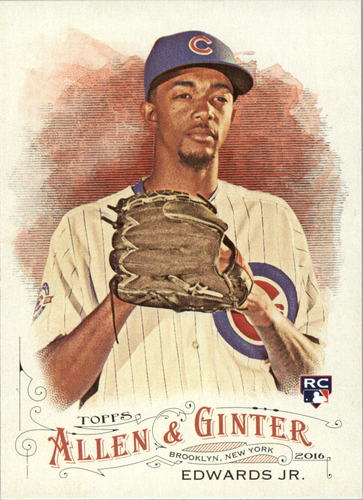 Photo of 2016 Topps Allen and Ginter #125 Carl Edwards Jr. Rookie Card Cubs post-season
