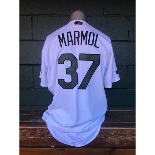 Cardinals Authentics: Oliver Marmol Game Worn Home White Memorial Day Jersey