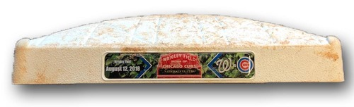 Photo of Game-Used 2nd Base -- Used in Innings 5 through 9 -- On Field for David Bote Walk-Off Grand Slam -- Nationals vs. Cubs -- 8/12/18