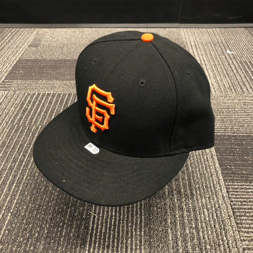 Photo of 2016 Game Used Regular Season Cap worn by #1 Ehire Adrianza - Size 7 3/8