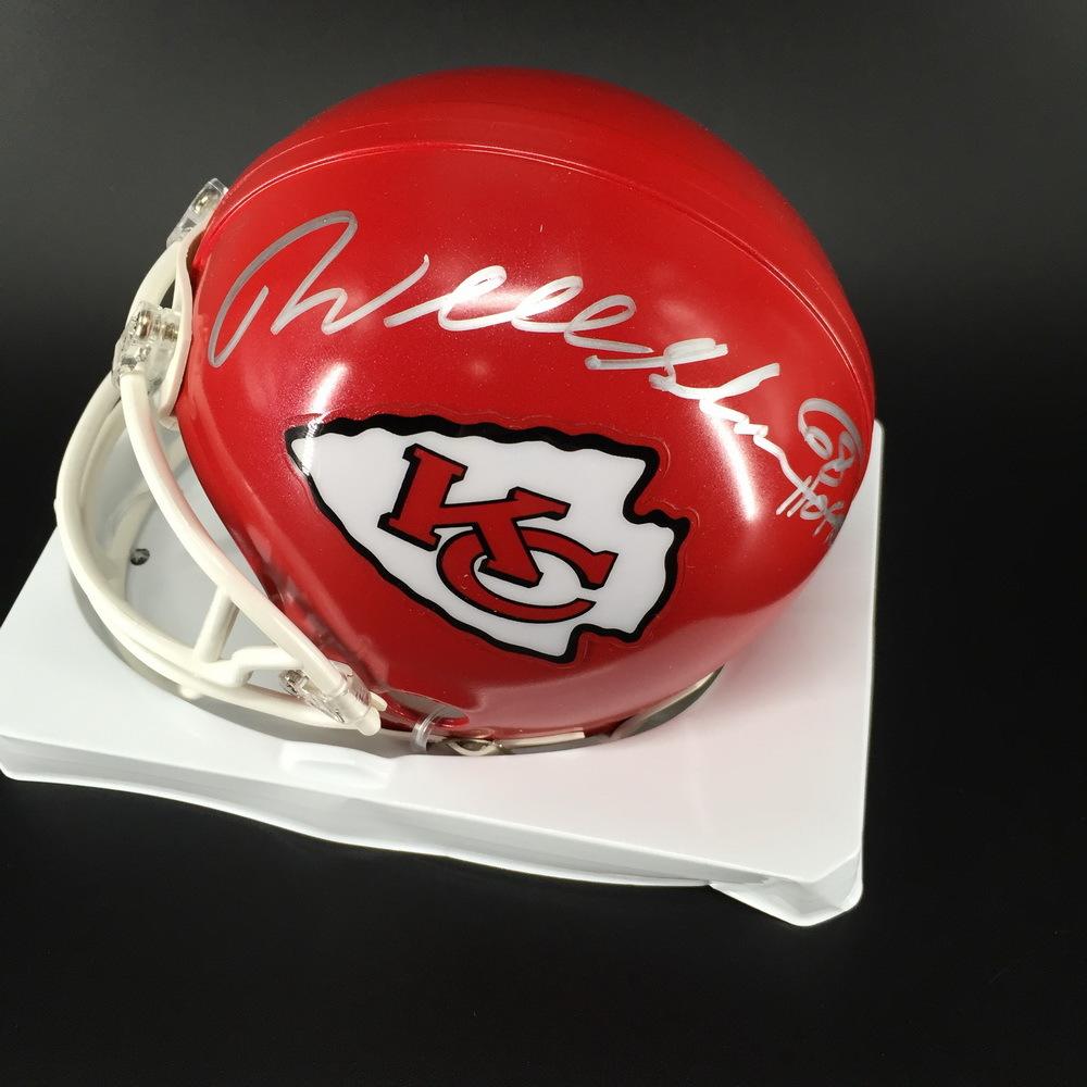 HOF - Chiefs Will Shields Signed Mini Helmet