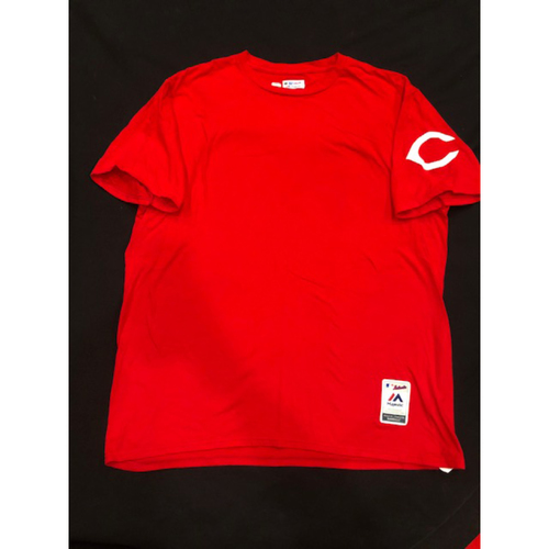 Photo of Joey Votto -- Team-Issued 1995 Throwback Undershirt (Starting 1B: Went 2-for-4, R) -- D-backs vs. Reds on Sept. 8, 2019 -- Size L