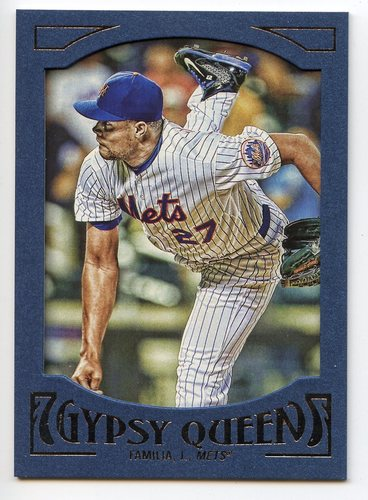 Photo of 2016 Topps Gypsy Queen Framed Blue #75 Jeurys Familia