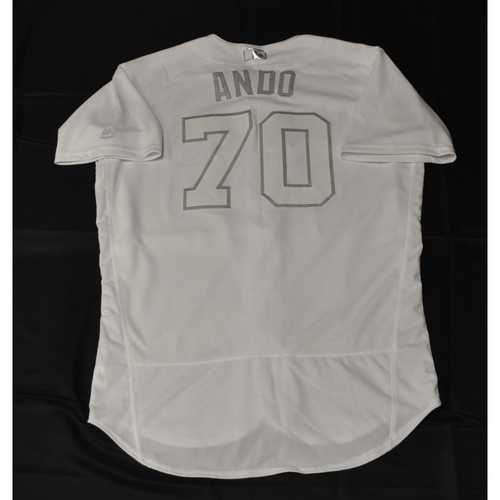 "Photo of Nick ""ANDO"" Anderson Tampa Bay Rays Game-Used 2019 Players' Weekend Jersey"