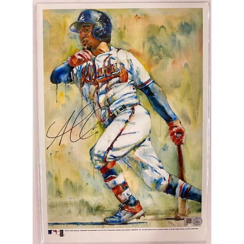 Photo of Ozzie Albies Autographed Richard Sullivan Art 7x10 Print
