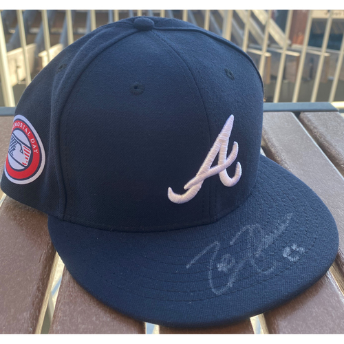 Photo of Tyler Flowers Autographed Memorial Day Hat
