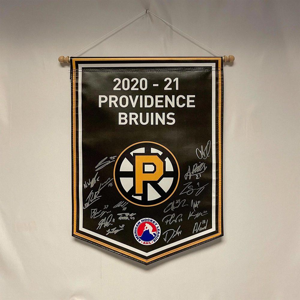 2020-21 Providence Bruins Team-Signed Banner