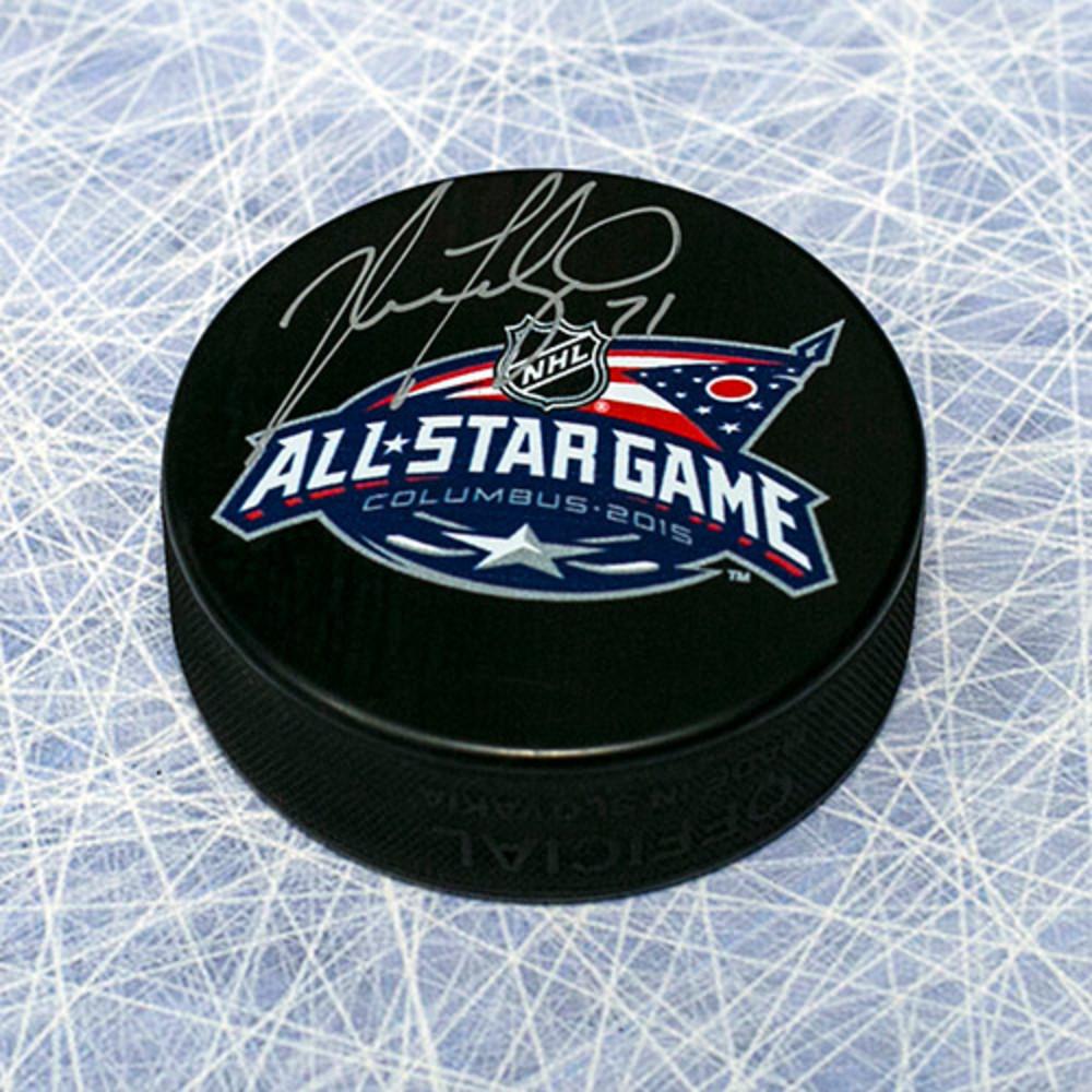 Nick Foligno Autographed 2015 All Star Hockey Puck *Columbus Blue Jackets*