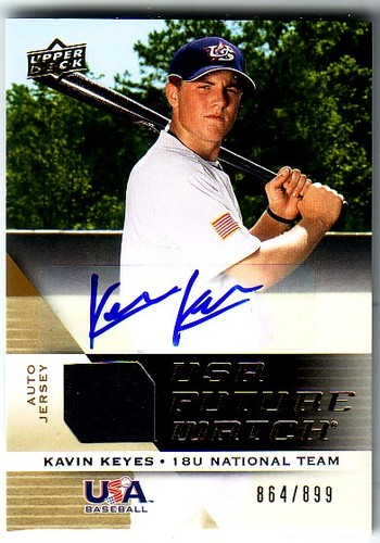 Photo of 2009 Upper Deck Signature Stars USA National Team Future Watch Jersey Autographs #31 Kavin Keyes/899