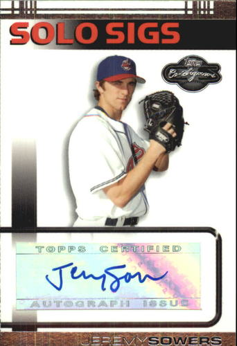 Photo of 2007 Topps Co-Signers Solo Sigs #JS Jeremy Sowers A