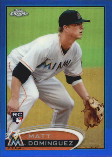 Photo of 2012 Topps Chrome Blue Refractors #159 Matt Dominguez