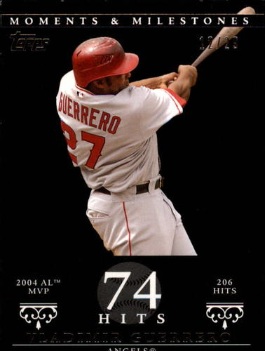 Photo of 2007 Topps Moments and Milestones Black #41-74 Vladimir Guerrero/Hits 74