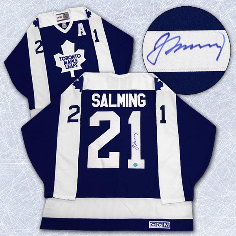 Borje Salming Toronto Maple Leafs Autographed Retro CCM Hockey Jersey