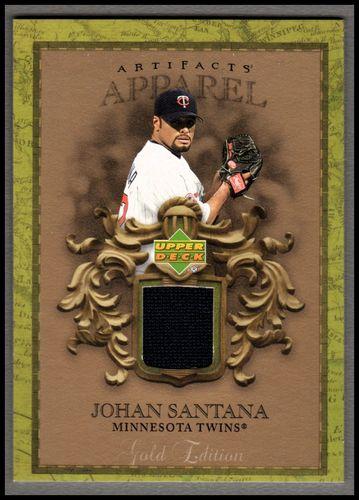 Photo of 2007 Artifacts MLB Apparel Gold #SA Johan Santana