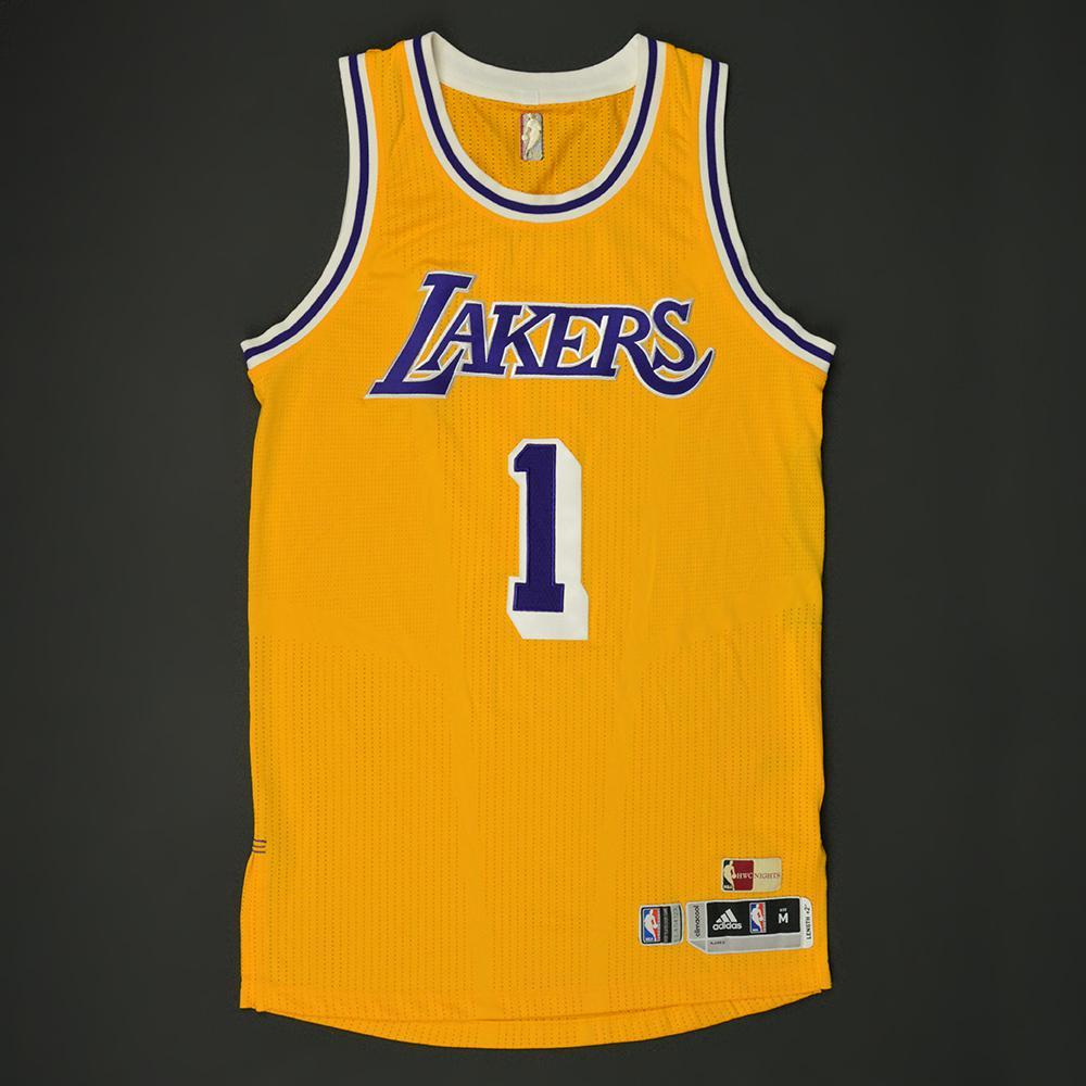 a79412d3f DAngelo Russell - Los Angeles Lakers - Game-Worn Hardwood Classics 1987- ...