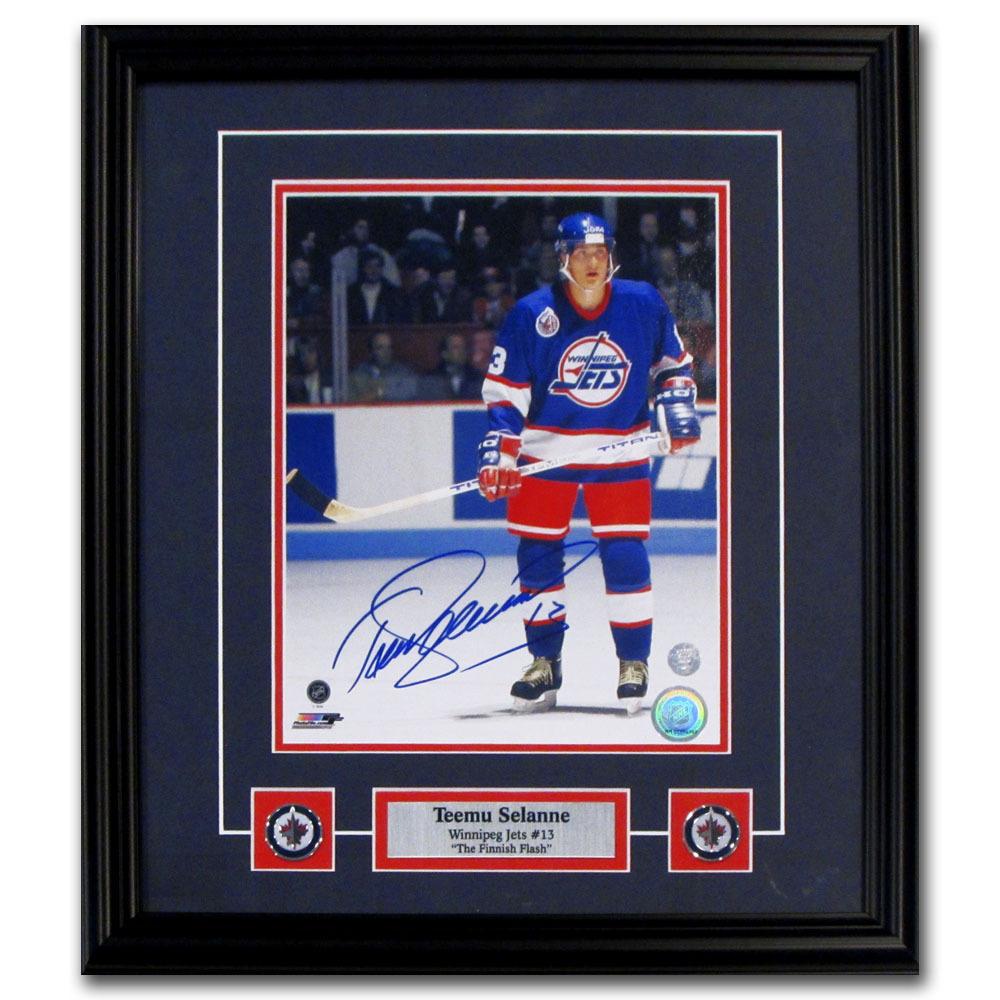 Teemu Selanne Autographed Winnipeg Jets Framed 8X10 Photo