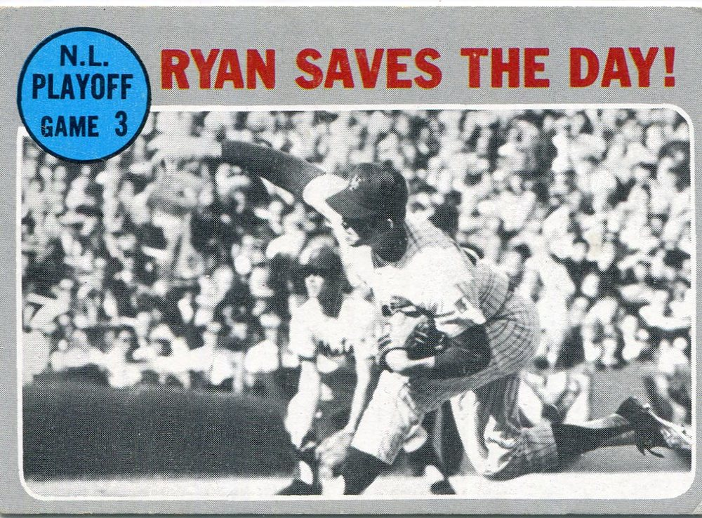 1970 Topps #197 NL Playoff Game 3/Nolan Ryan