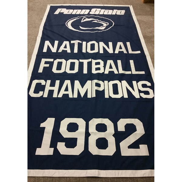 Photo of Penn State Football National Championship Banner (1982)