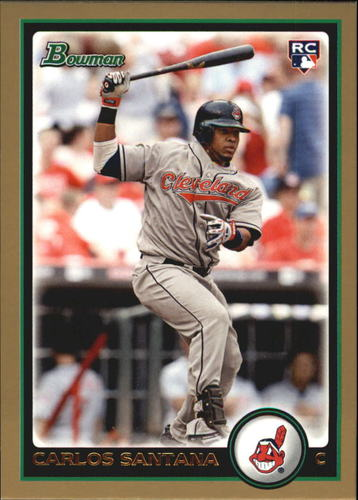Photo of 2010 Bowman Draft Gold #BDP69 Carlos Santana