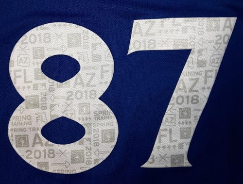 Photo of Authenticated Team Issued Spring Training 2018 Jersey - #87 Mattingly Romanin. Size 48