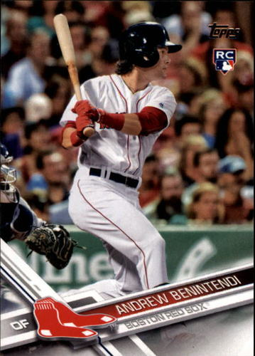 Photo of 2017 Topps #283A Andrew Benintendi Rookie Card