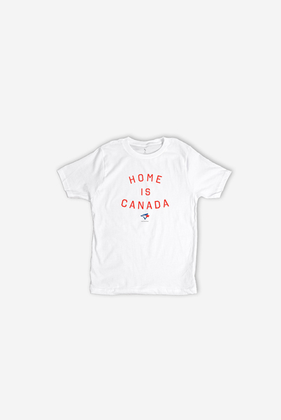Toronto Blue Jays Youth White Home is Canada T-Shirt by Peace Collective