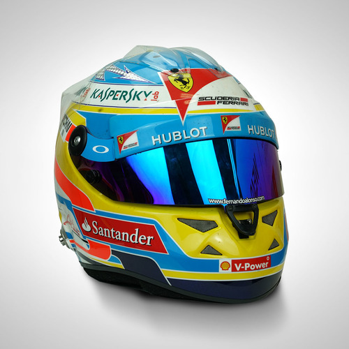 Photo of Fernando Alonso 2014 Race-used Helmet