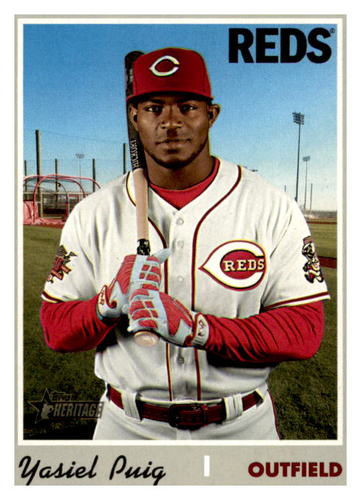 Photo of 2019 Topps Heritage #541 Yasiel Puig