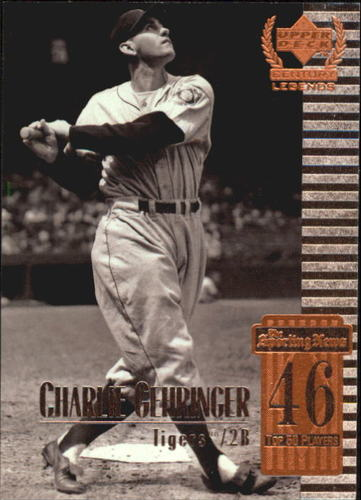 Photo of 1999 Upper Deck Century Legends #46 Charley Gehringer