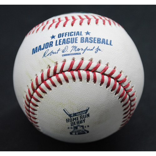 Photo of 2019 Home Run Derby (07/08/19) - Game-Used Baseball - Vladimir Guerrero Jr. (Toronto Blue Jays) - Round 2, Tie Breaker Out