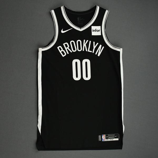 Image of Rodions Kurucs - Brooklyn Nets - NBA China Games - Game-Worn Icon Edition Jersey - 2019-20 NBA Season