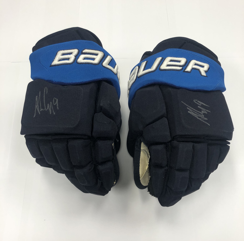 #9 Andrew Copp Game Used Autographed Gloves - Winnipeg Jets