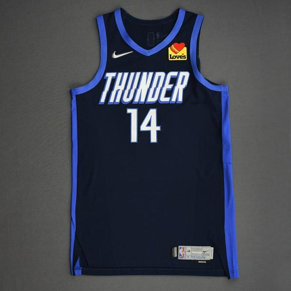 Image of Svi Mykhailiuk - Oklahoma City Thunder - Game-Worn Earned Edition Jersey - 2020-21 NBA Season