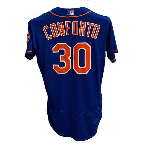 Photo of Michael Conforto #30 - Team Issued Blue Alt. Home Jersey - 2020 Season