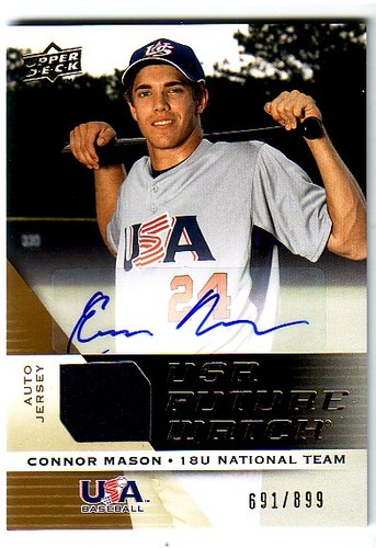 Photo of 2009 Upper Deck Signature Stars USA National Team Future Watch Jersey Autographs #33 Connor Mason/89