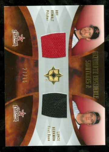 Photo of 2007 Ultimate Collection Ultimate Ensemble Dual Swatches #OB Roy Oswalt/Lance Berkman/75