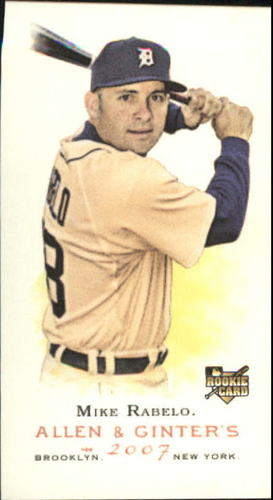 Photo of 2007 Topps Allen and Ginter Mini A and G Back #69 Mike Rabelo