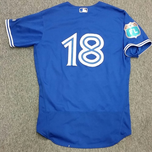 Authenticated Game Used 2016 Spring Training Jersey - Darwin Barney