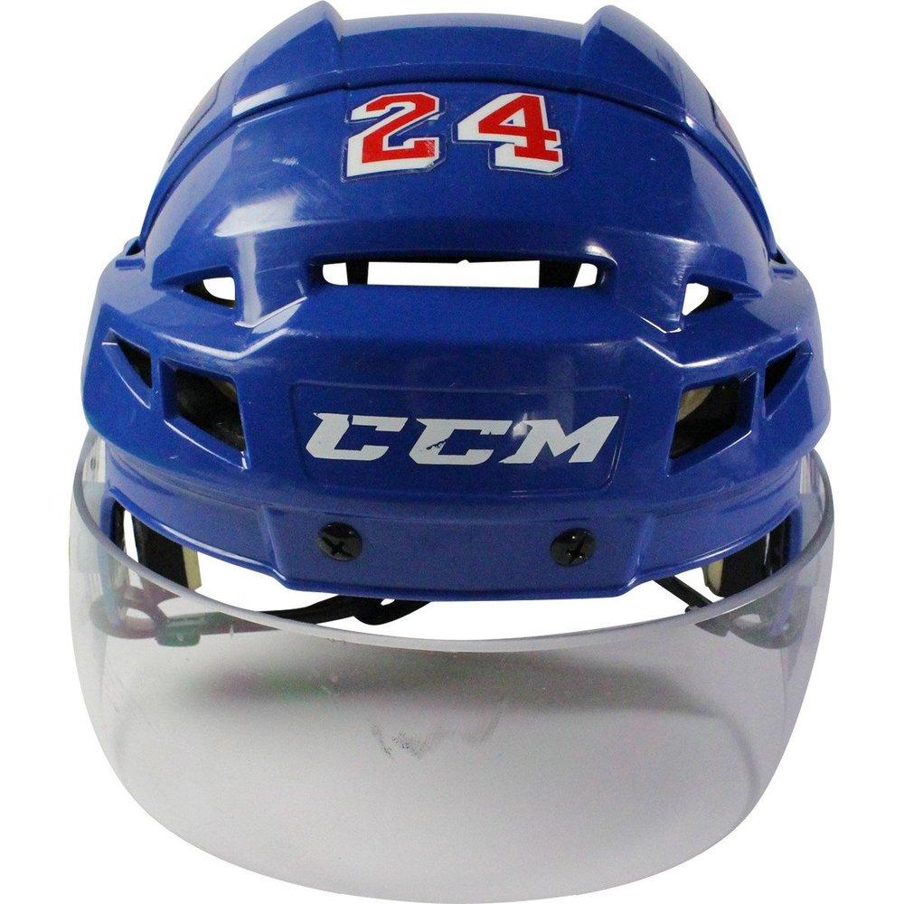 Oscar Lindberg New York Rangers 2016-2017 Season Game Used #24 Blue Helmet w/ 100th Anniversary Sticker
