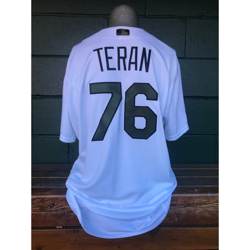 Cardinals Authentics: Kleininger Teran Game Worn Home White Memorial Day Jersey