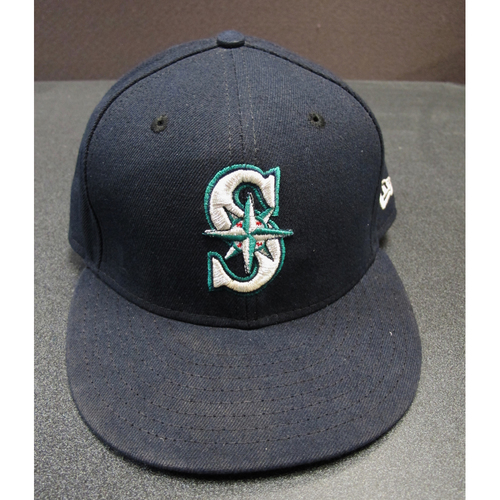 Photo of Felix Hernandez Team-Issued Navy Cap 2017. Cap Size - 7 3-8