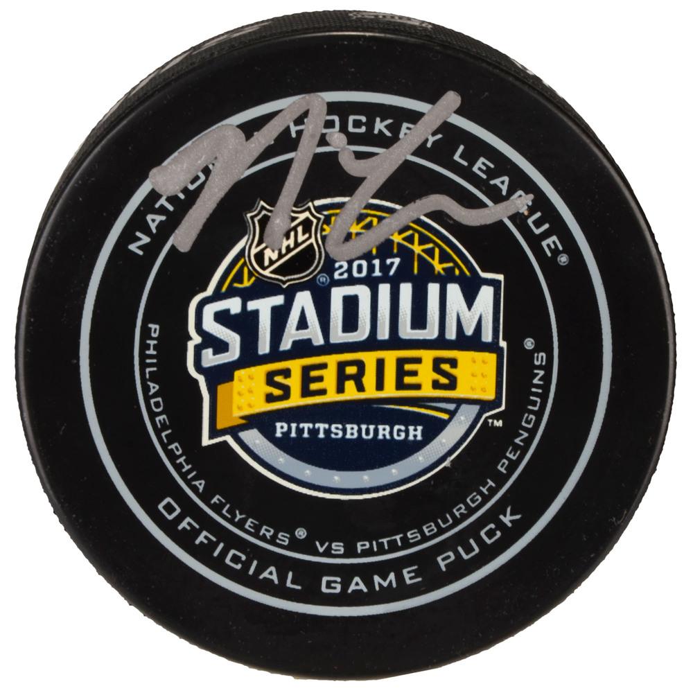 Nick Cousins Philadelphia Flyers Autographed 2017 Stadium Series Official Game Puck
