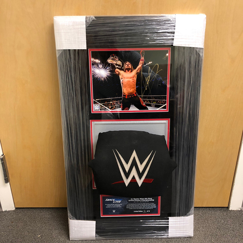 Photo of AJ Styles SIGNED SmackDown Photo & Used Turnbuckle Commemorative Plaque (#4 of 10)