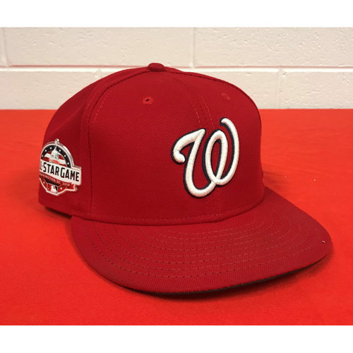 Photo of Michael A. Taylor Game-Used 2018 Home Red Cap