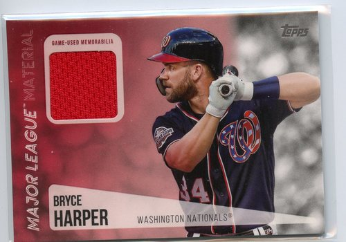 Photo of 2019 Topps Major League Materials #MLMBH Bryce Harper