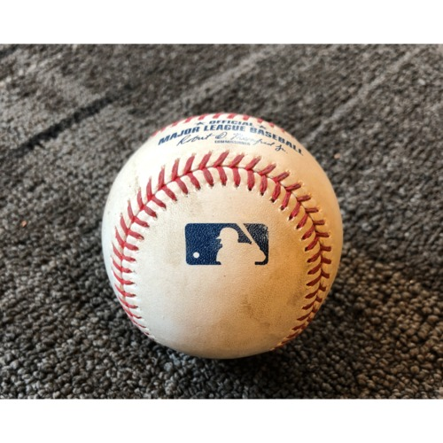 Photo of 2019 Game Used Baseball - San Francisco Giants vs. New York Yankees - 4/28/19 - B-6: Domingo German to Kevin Pillar - Pitch in the Dirt. Also. Brandon Crawford Lines Out to Gleyber Torres