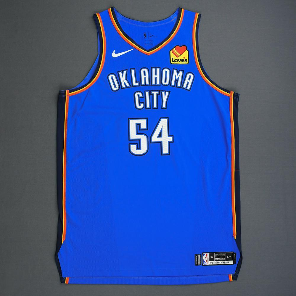 Patrick Patterson - Oklahoma City Thunder - Game-Worn Icon Edition Jersey - Dressed, Did Not Play - 2019 Playoffs