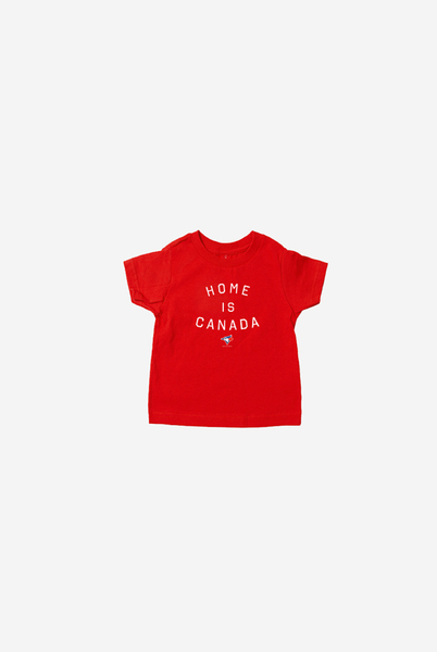 Toronto Blue Jays Youth Red Home is Canada T-Shirt by Peace Collective